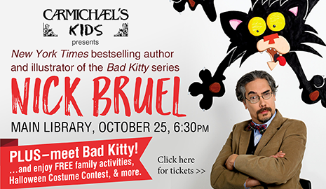 "Carmichael's Kids presents ""Bad Kitty"" author/illustrator Nick Bruel"