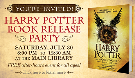Harry Potter Book Release Party