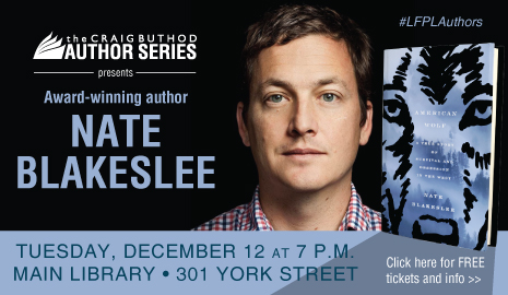 The Craig Buthod Author Series welcomes Nate Blakeslee