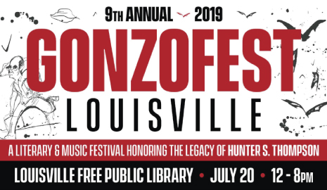 GonzoFest 2019 at the Main Library on Saturday, July 20, noon-8pm. Click here for more info.