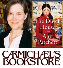 Carmichael's Bookstore presents international bestselling author Ann Patchett