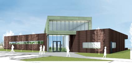 Architect's rendering of teh new Fairdale Library