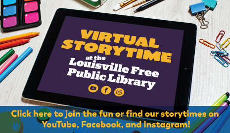 Virtual Storytime available on Facebook, Youtube and Instagram
