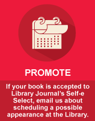 Promote - schedule an author talk at the library
